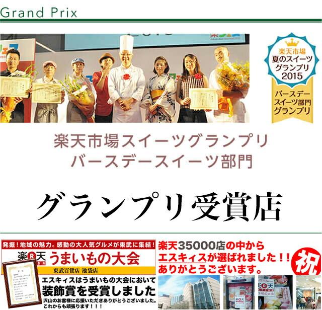 楽天市場スイーツグランプリ バースデースイーツ部門 グランプリ受賞店