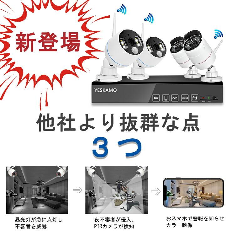 防犯カメラ 人感センサー