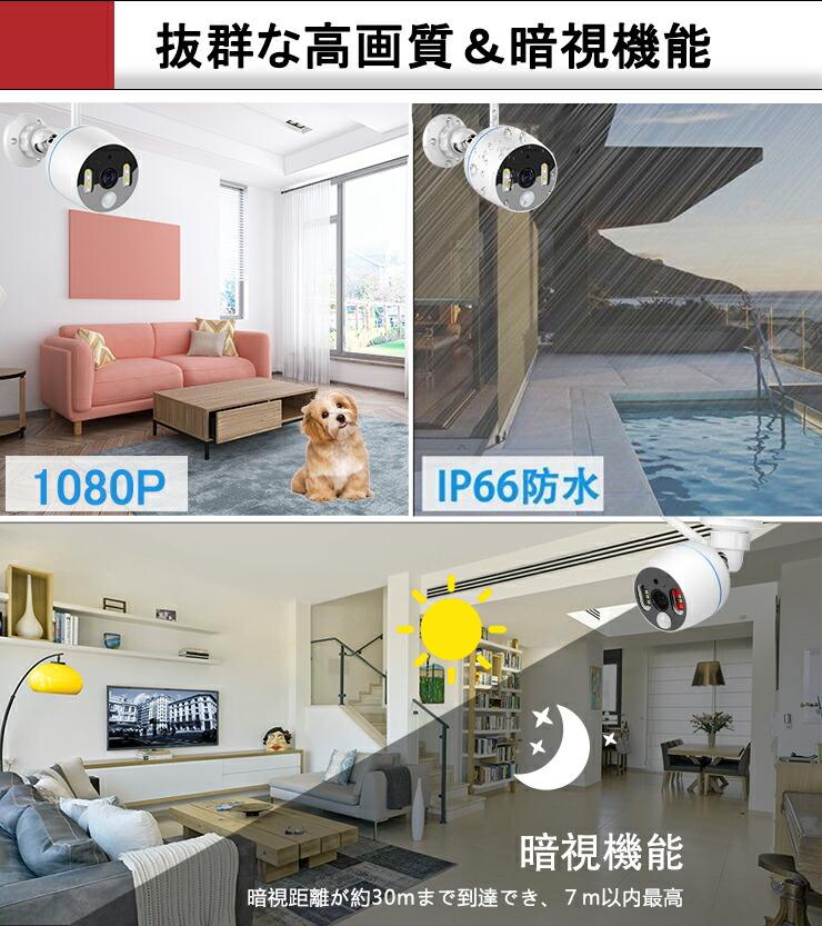 防犯カメラ 200万画素