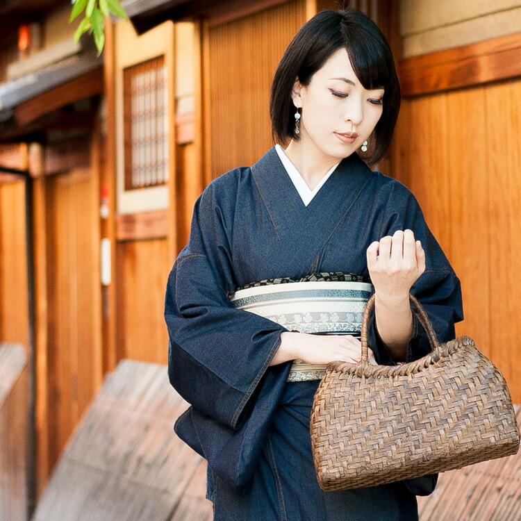 岡山県児島で制作した日本製のレディースデニム着物