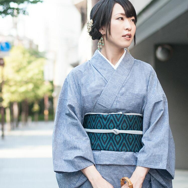六花(ROCCA)の久留米織レディース木綿着物
