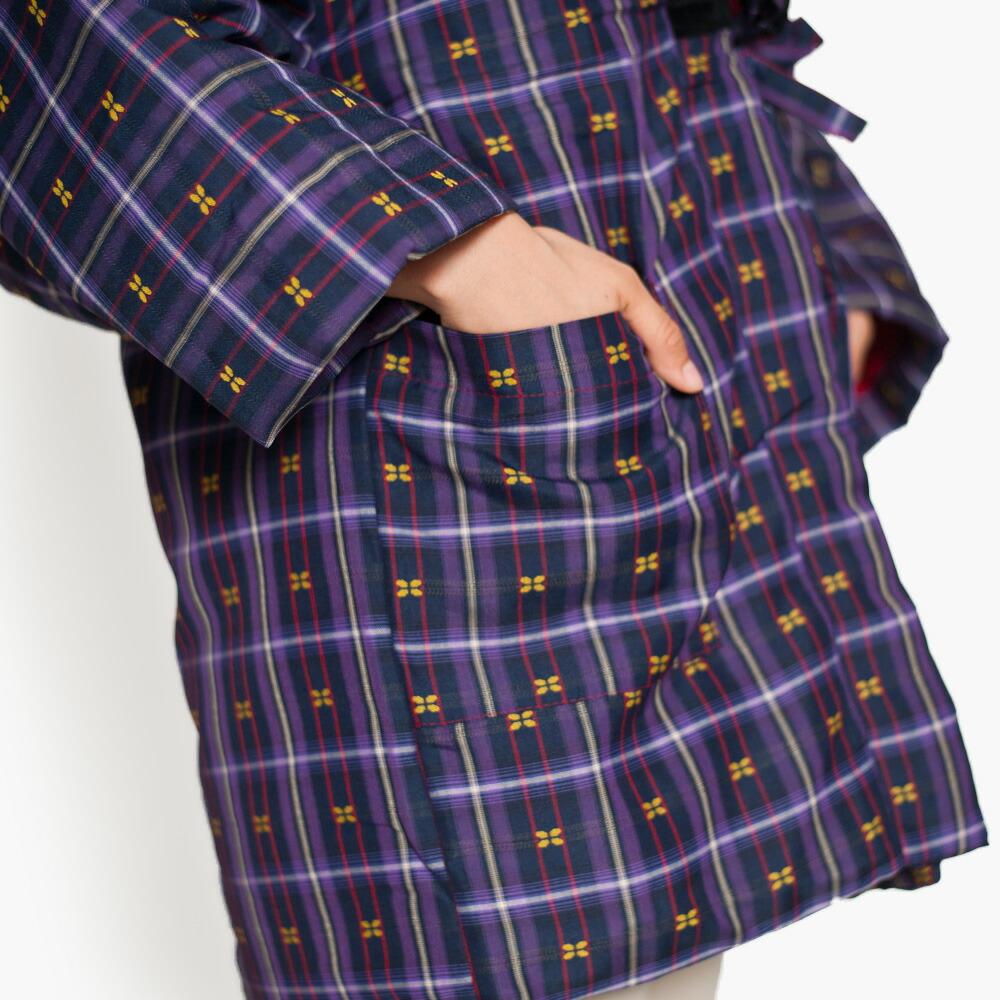 大きいサイズの久留米織レディースはんてん