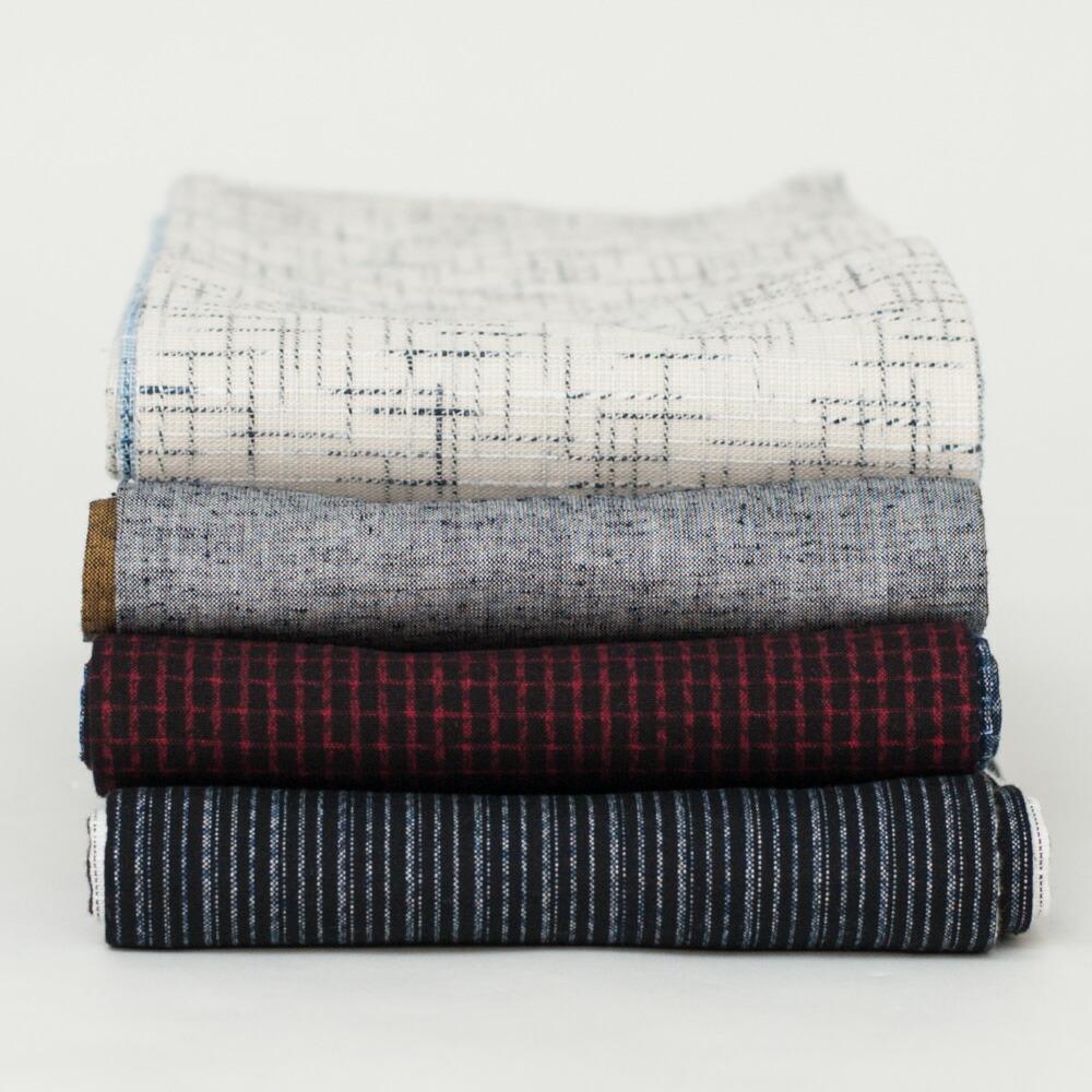 日本製の洗える木綿着物と半幅帯のお得なセット