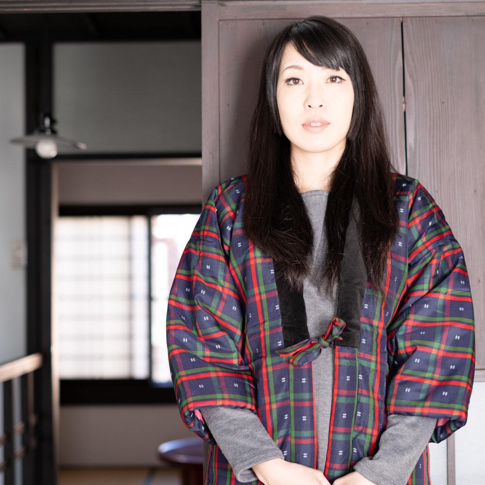 久留米で作られた日本製のレディースはんてんMサイズ
