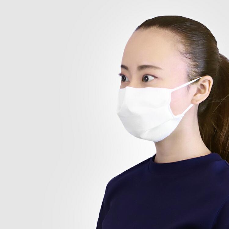 高密度不織布フィルタ入りの洗えて使える絹マスク3枚セット