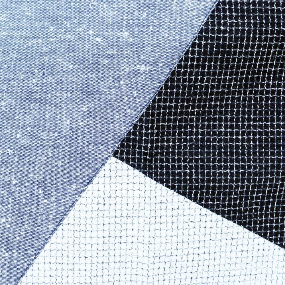 久留米織で作った切り替えが可愛い織物割烹着