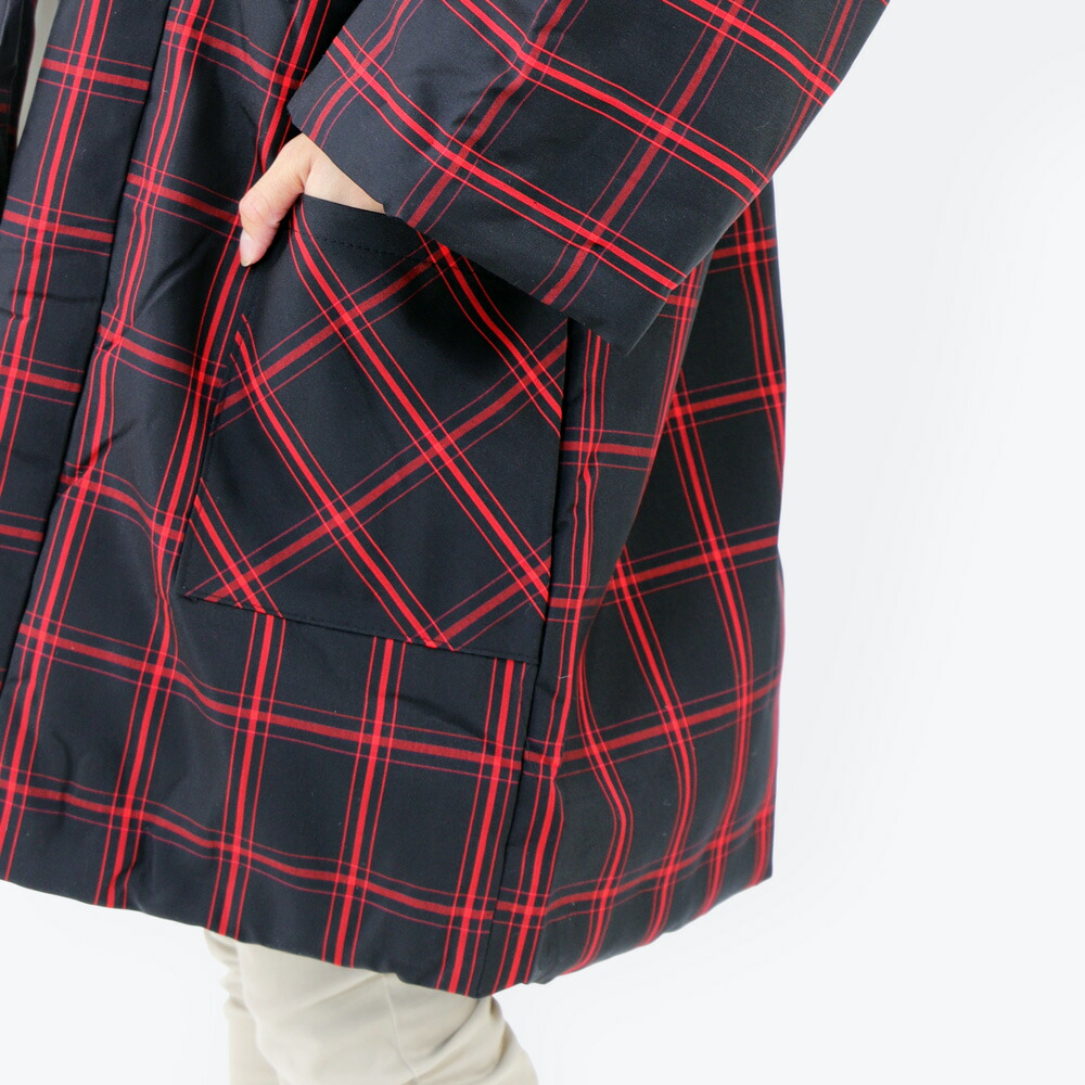 久留米紬織のおしゃれなレディース大判はんてん
