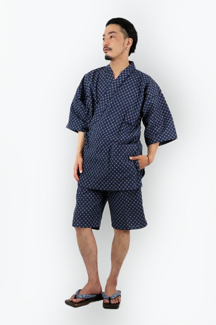 綿甚平メンズおしゃれパジャマ