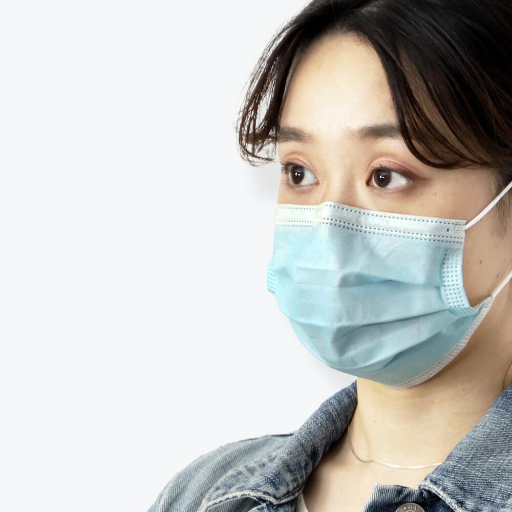 [1箱50枚入り]使い捨てマスクウイルス対策3層不織布フィルター