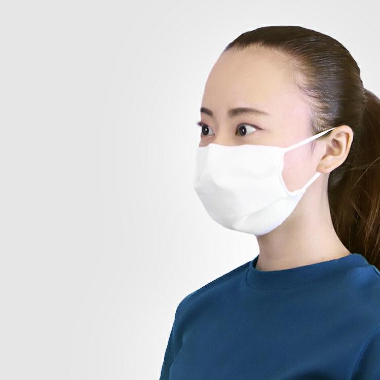 涼しいので夏にも使える大人用の洗える日本製絹マスク