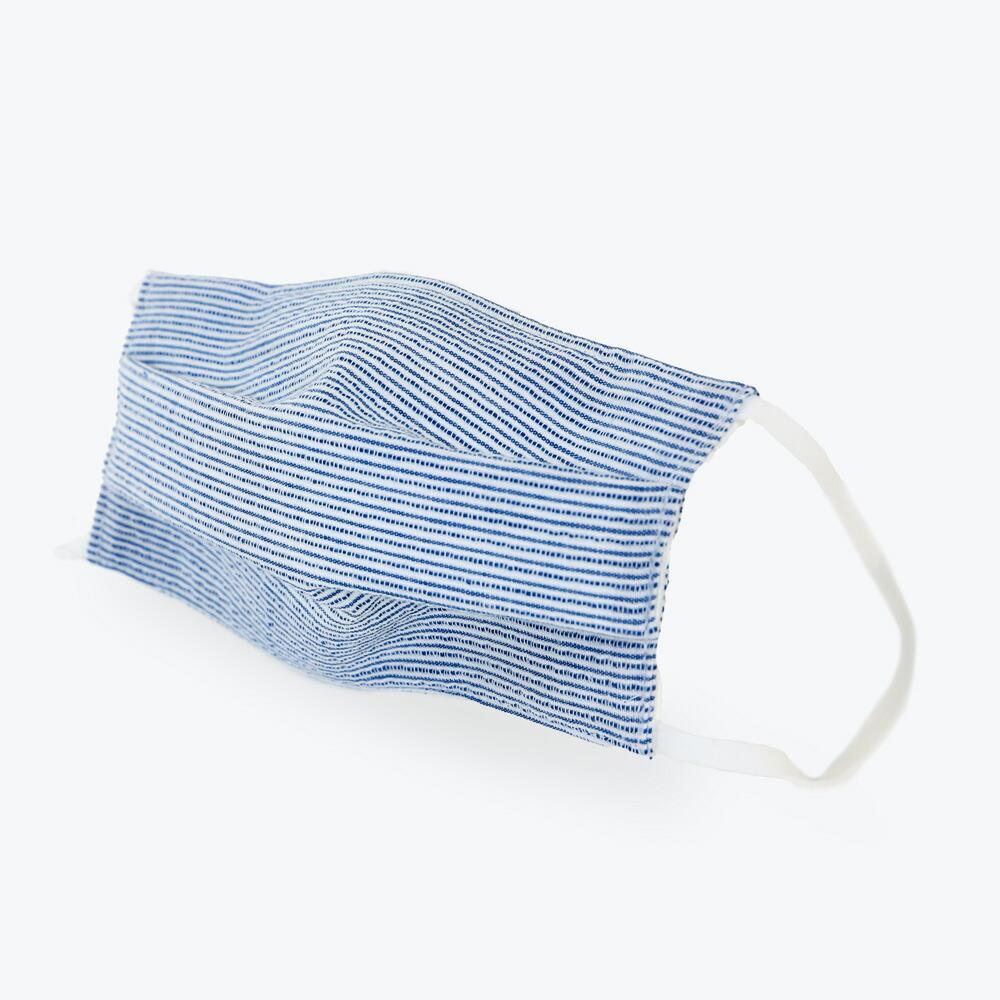 伝統のしじら織生地を使用した着け心地涼やかなマスク