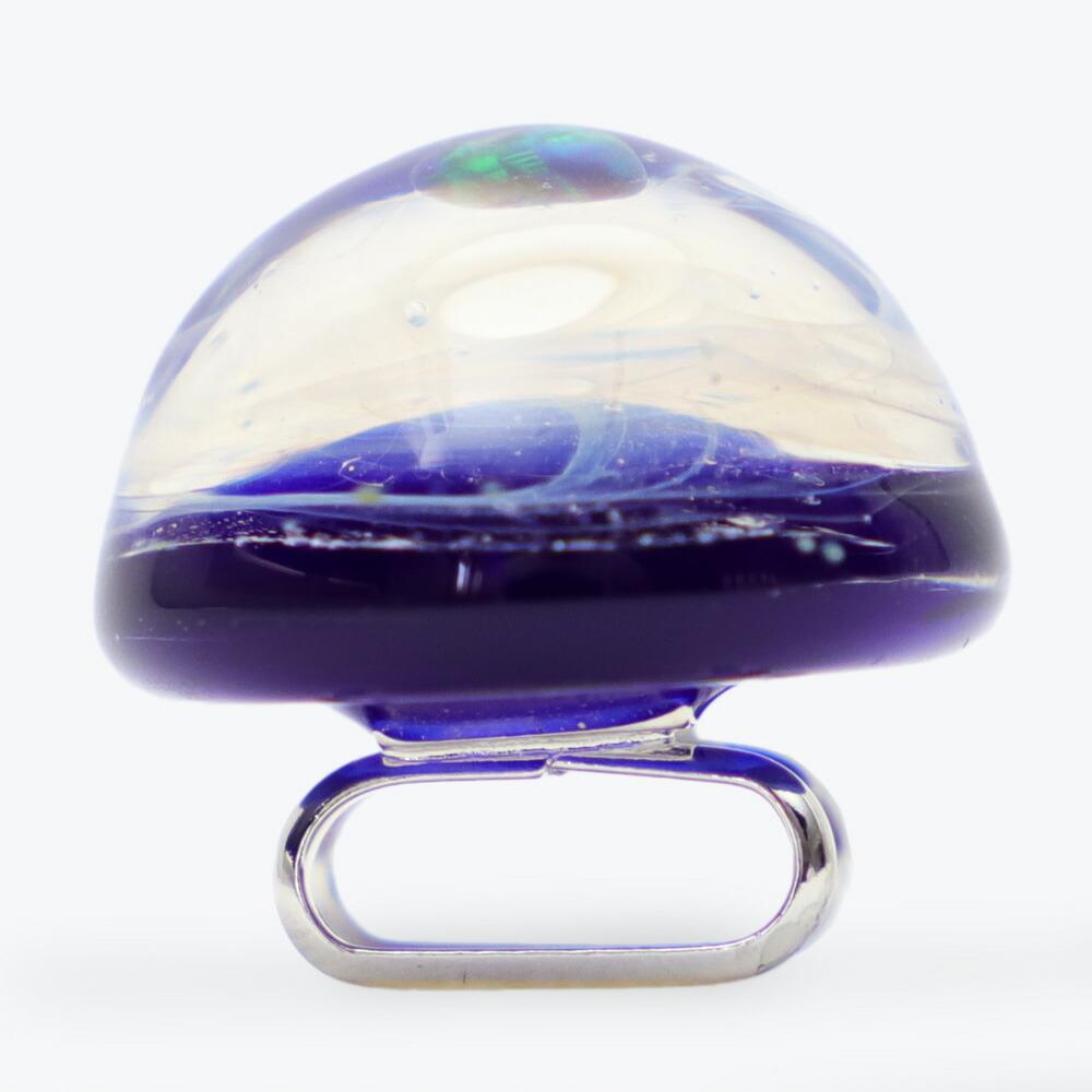 職人が作ったお洒落な宇宙ガラスの帯留