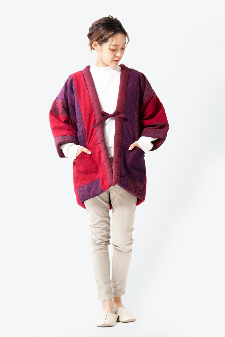 冬に嬉しい暖かくてかわいい久留米織レディースメンズはんてん