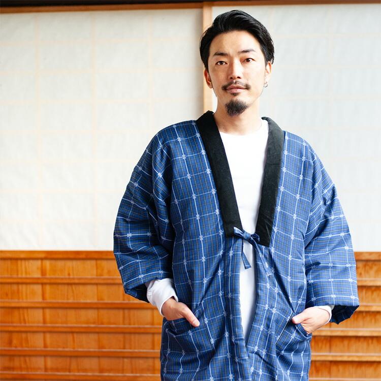 軽くてあたたかい日本製のメンズ久留米はんてん