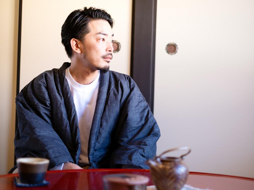 岡山デニムを使用した一つ上の日本製はんてん