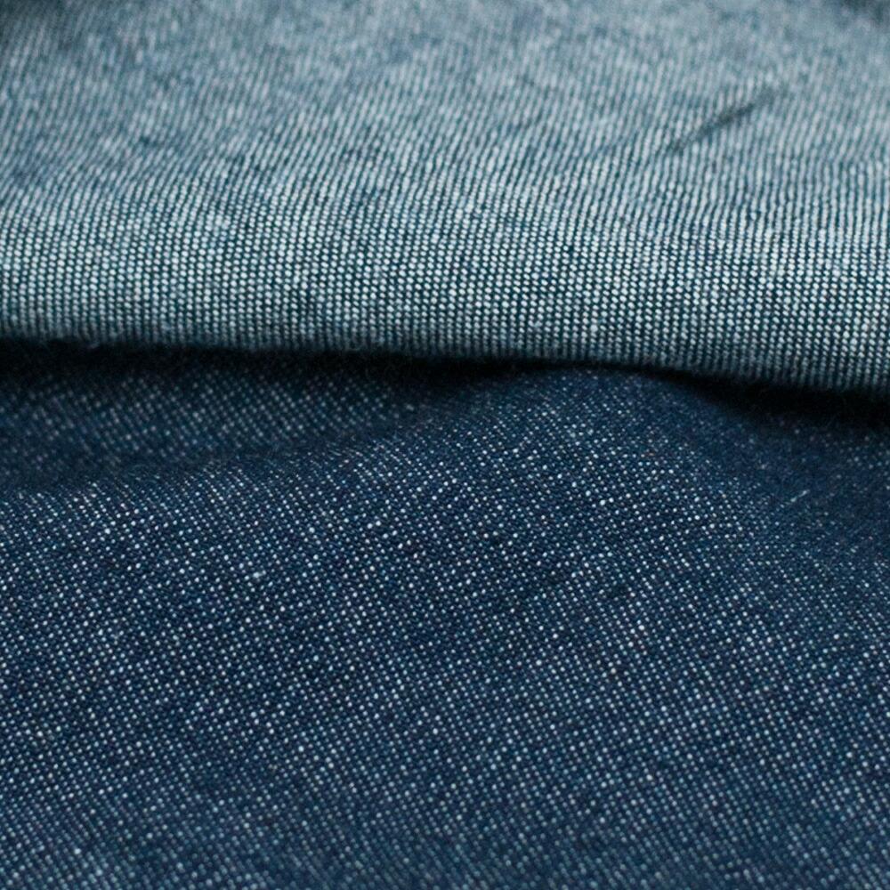 柔らかいデニムの作務衣