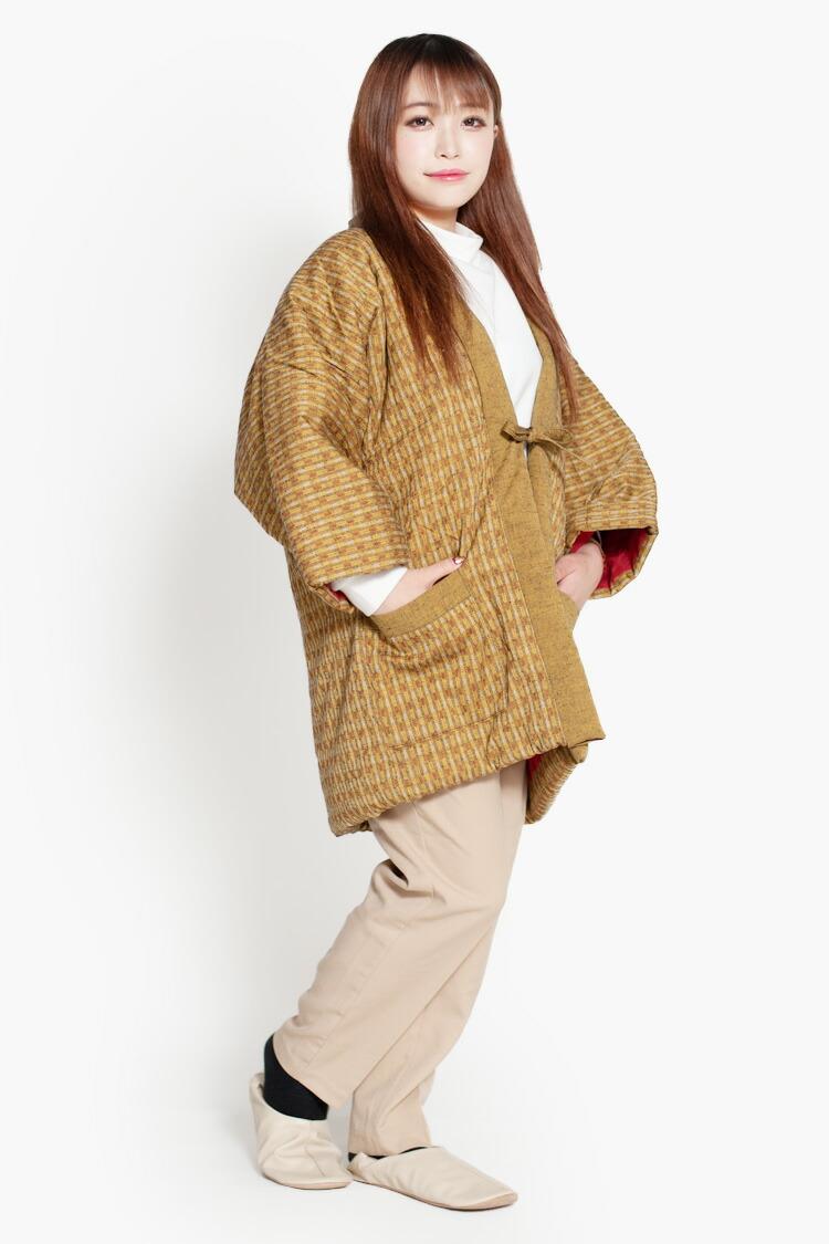 久留米紬織のおしゃれなレディースはんてん