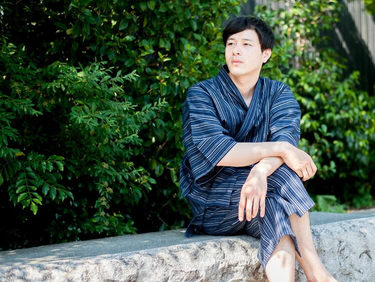 久留米しじら織で作った涼しい日本製メンズ甚平