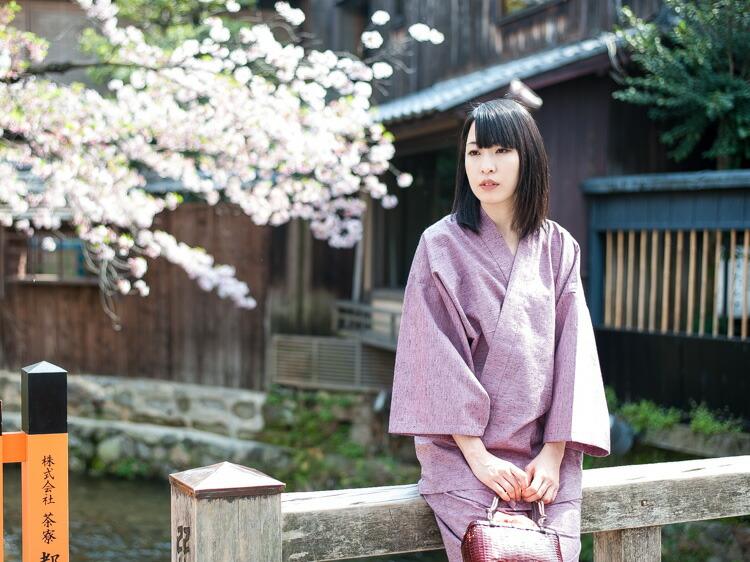 久留米織でつくったおしゃれでかわいい日本製のレディース作務衣
