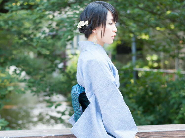 久留米織を使ったたゆたふオリジナルブランド六花の洗える木綿着物