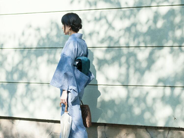 久留米織で作ったおしゃれな日本製の洗える木綿着物