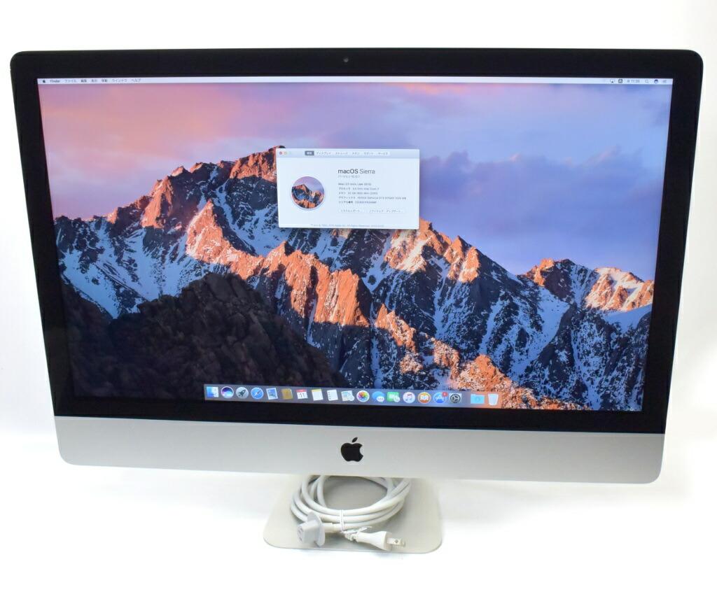Apple iMac 27インチ Core i7-3770 3.4GHz 32GB 1TB GTX675MX WQHD 2560x1440 Sierra10.12.1 Late 2012