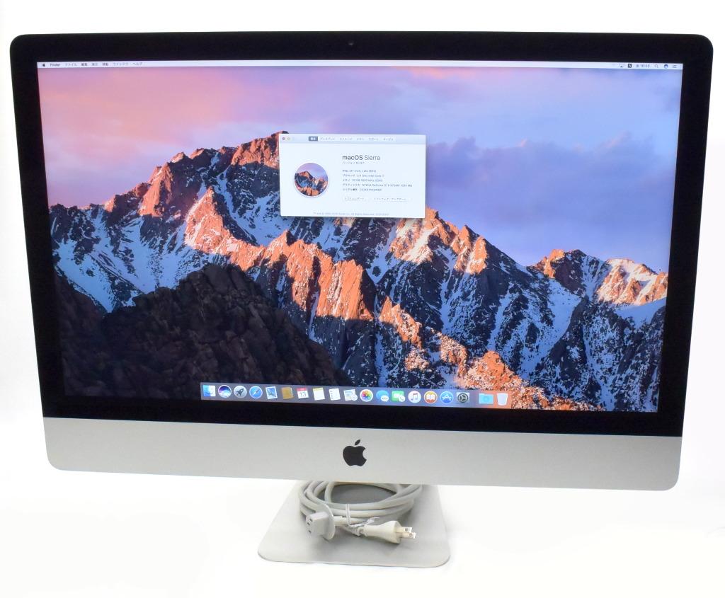 Apple iMac 27in Core i7-3770 3.4GHz 32GB 1TB GTX675MX 2560x1440 Sierra 10.12.1 Late 2012 A1419