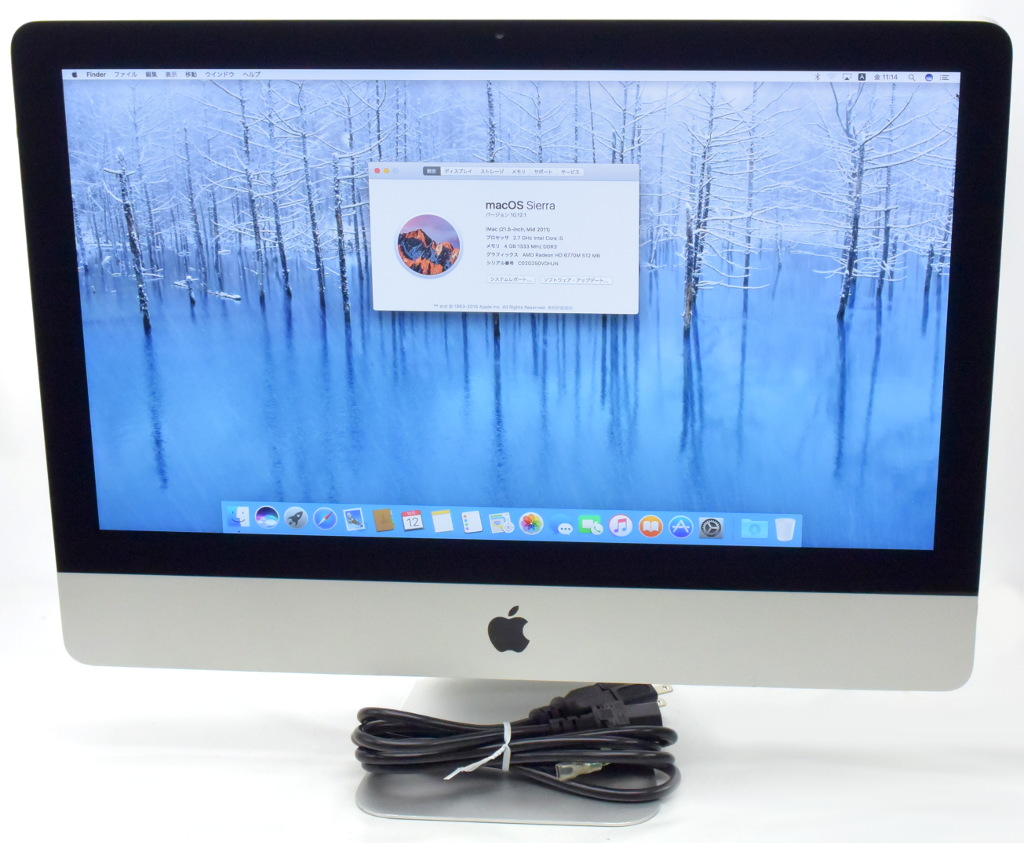 Apple iMac 21.5インチ Core i5-2500S 2.7GHz 4GB 1TB HD6770M macOS Sierra 10.12.1 Mid 2011