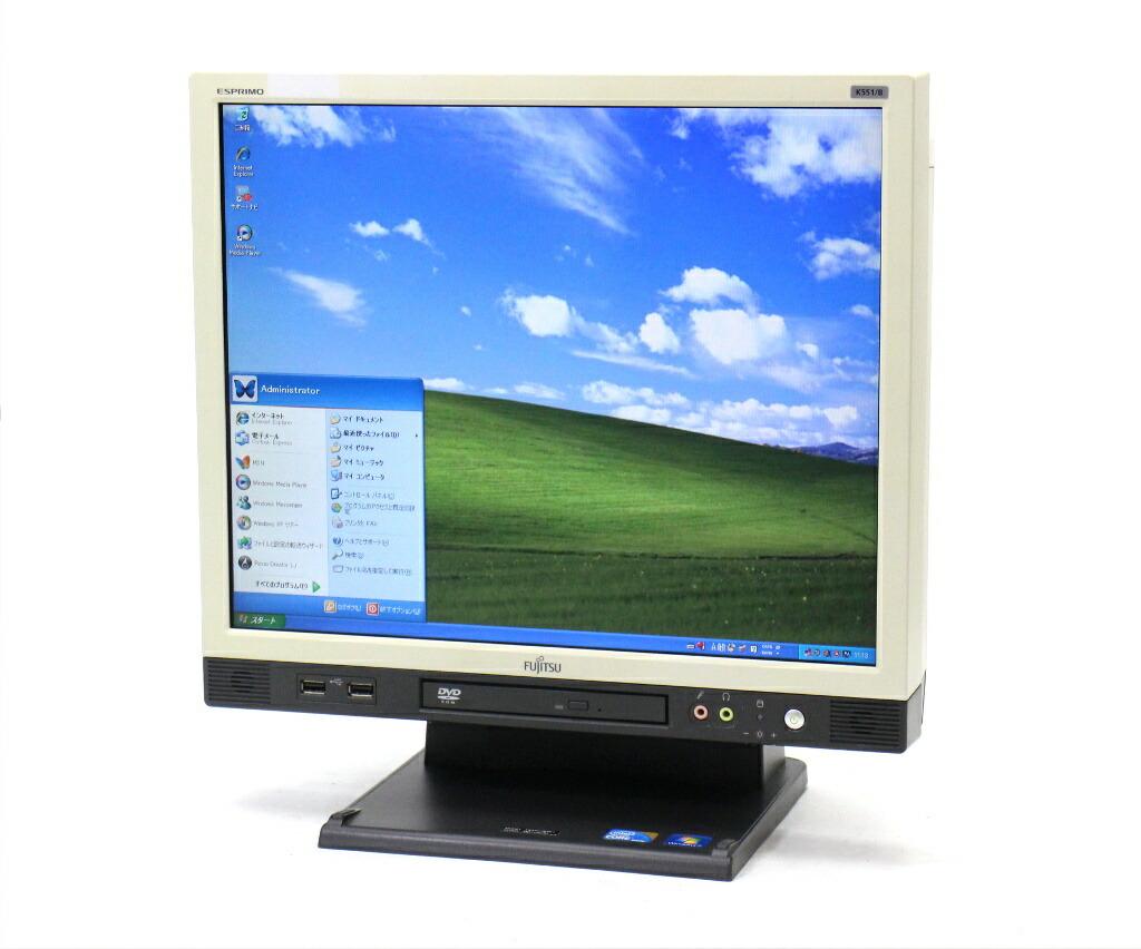 富士通 ESPRIMO K551/B Core i5-560M 2.66GHz 4GB 160GB DVD-ROM 17インチ 1280x1024 WindowsXP Pro