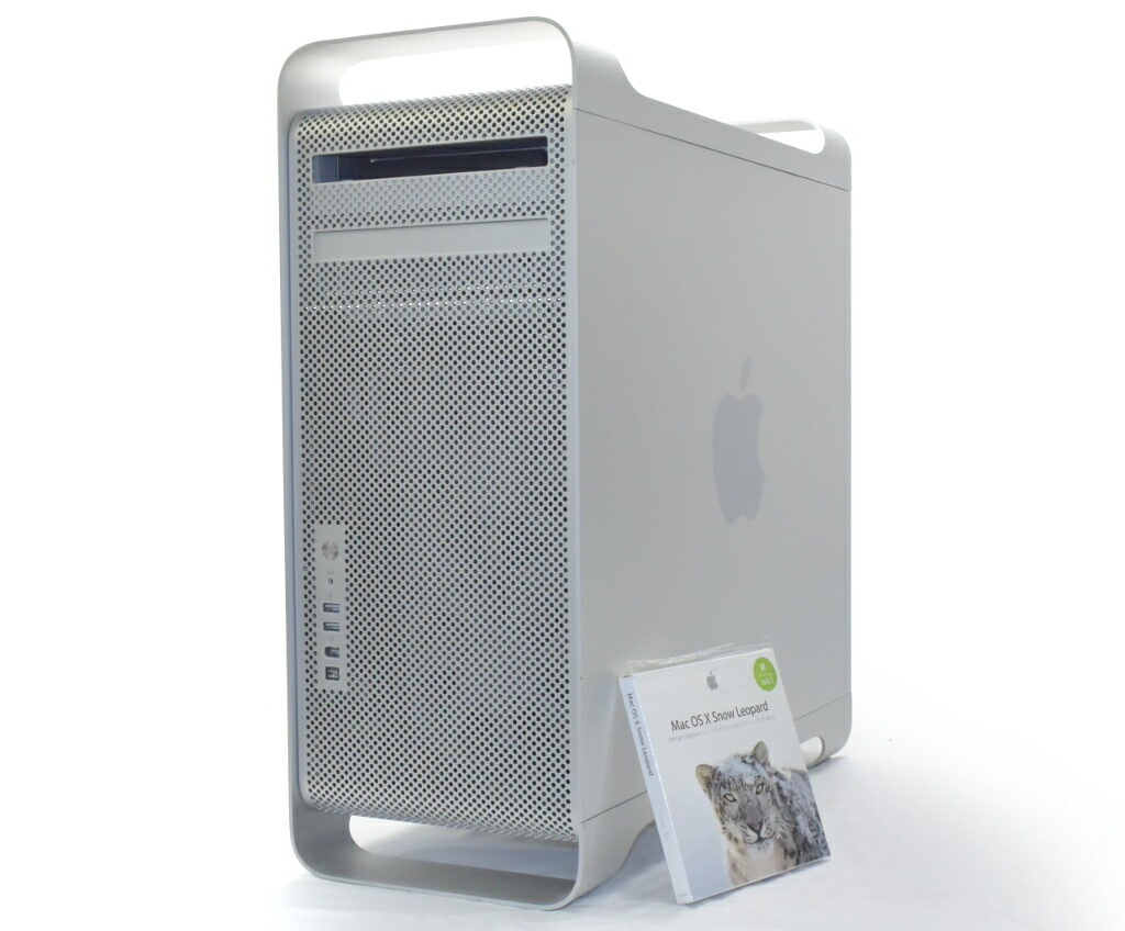 Apple Mac Pro 8コア Xeon 2.8GHz*2 10GB 1TB DVD-RW HD2600 OSX 10.6.3 Early 2008