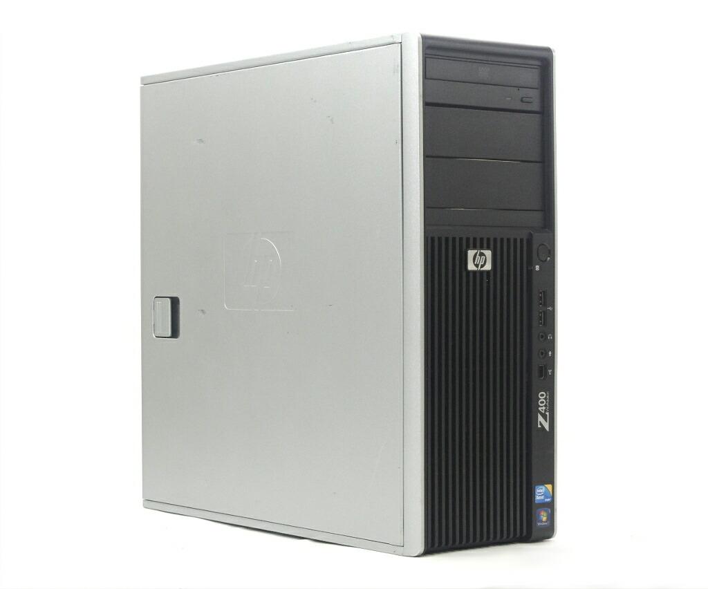 hp Z400 Xeon W3690 3.46GHz 3GB 300GB(SAS)x2台 Quadro 2000 DVD-ROM WindowsXP Pro 32bit