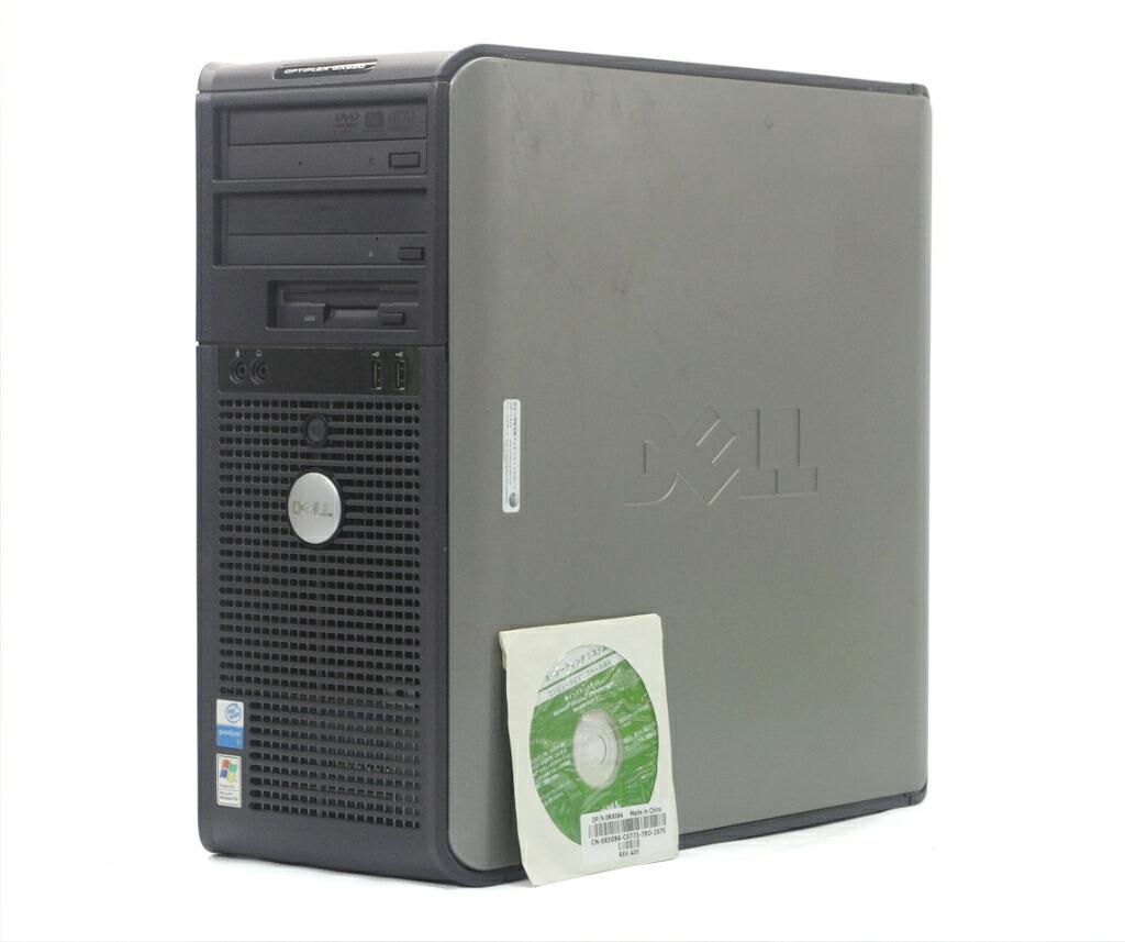 DELL Optiplex GX620 MT Pentium D 820 2.8GHz 2GB 160GB(HDD) Radeon X1550 WindowsXP Pro 32bit
