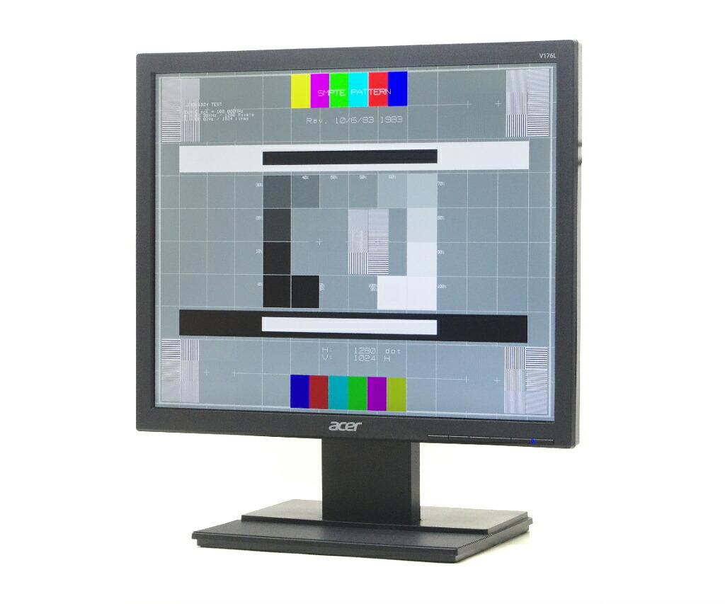 acer V176L 17インチ 非光沢 スクエアパネル SXGA 1280x1024ドット アナログRGB入力のみ
