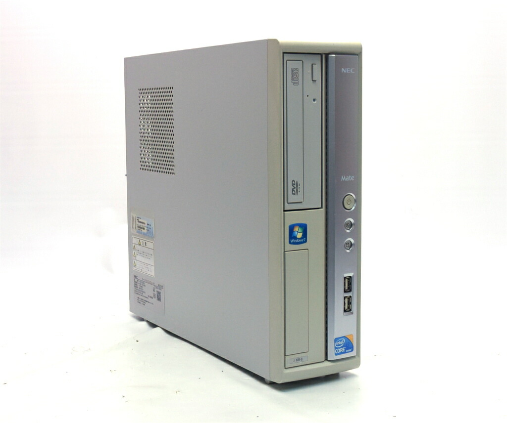 NEC Mate MJ32L/B-B Core i3-550 3.2GHz 2GB 160GB(HDD) DVI-D アナログRGB出力 Windows7 Pro 32bit