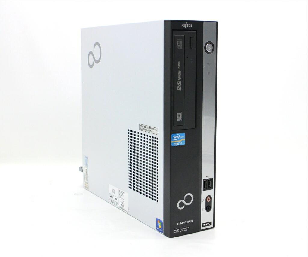 富士通 ESPRIMO D581/D Core i5-2400 3.1GHz 4GB 500GB(HDD) DVI-D Windows7 Pro 64bit