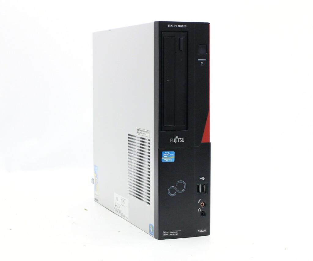 富士通 ESPRIMO D582/G Core i3-3240 3.4GHz 4GB 500GB(HDD) DVI-D Windows7 Pro 32bit