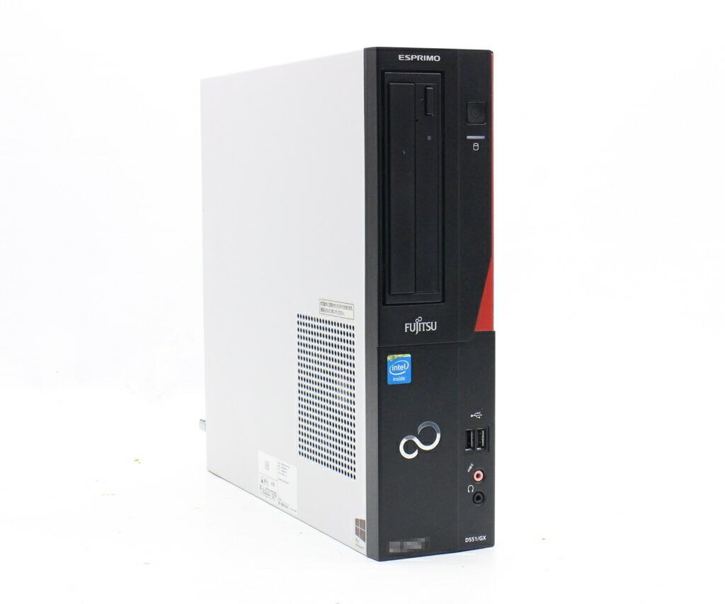 富士通 ESPRIMO D551/GX Celeron G1610 2.6GHz 4GB 500GB(HDD) DVI-D Windows10 Pro 64bit