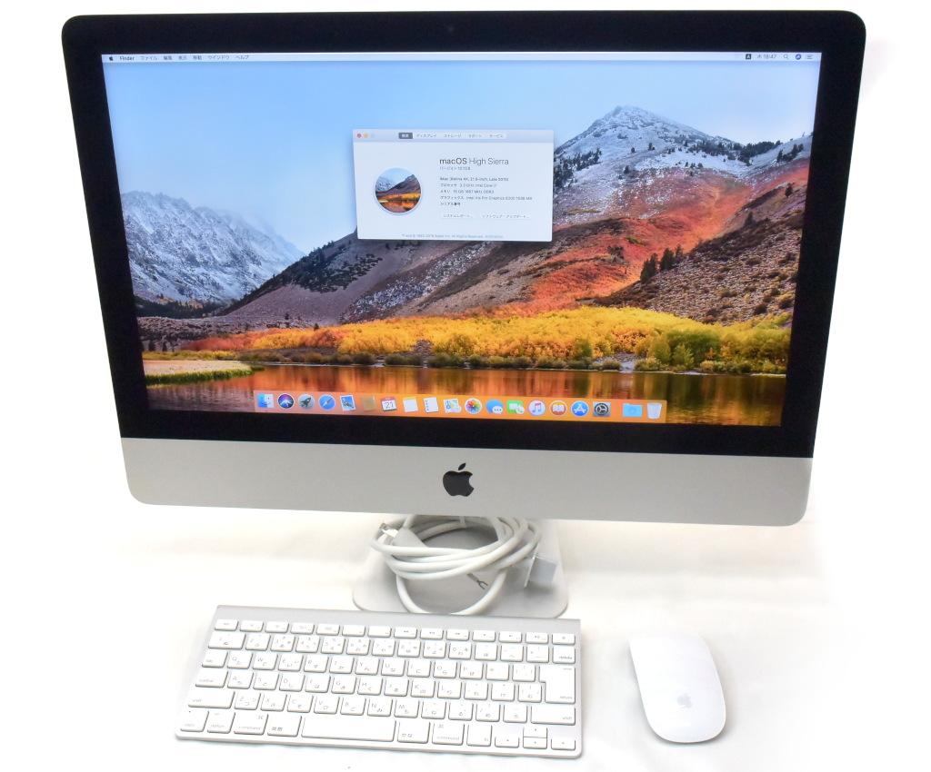 Apple iMac 21.5インチ Retina 4K Late 2015 Core i7-5775R 3.3GHz 16GB 1TB(HDD) 24GB 4096x2304