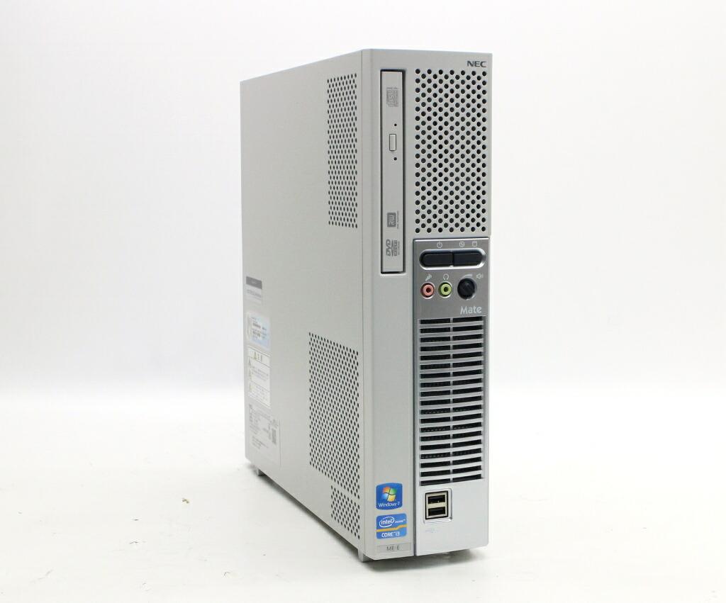 NEC MK33L/E-E Core i3-2120 3.3GHz 4GB 500GB(HDD) DVI-D アナログRGB出力 Windows7 Pro 64bit