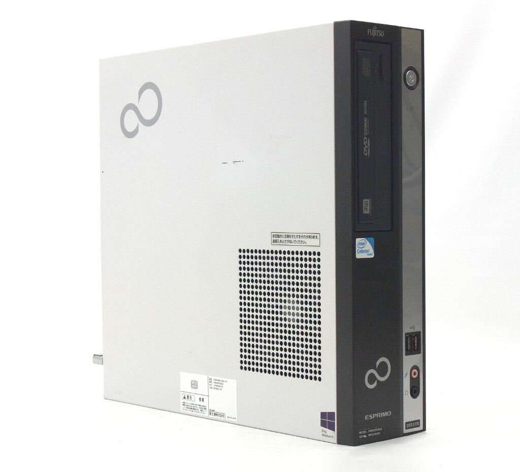 富士通 ESPRIMO D551/FX Celeron G550 2.6GHz 2GB 500GB(HDD) DVI-D Windows10 Pro 64bit