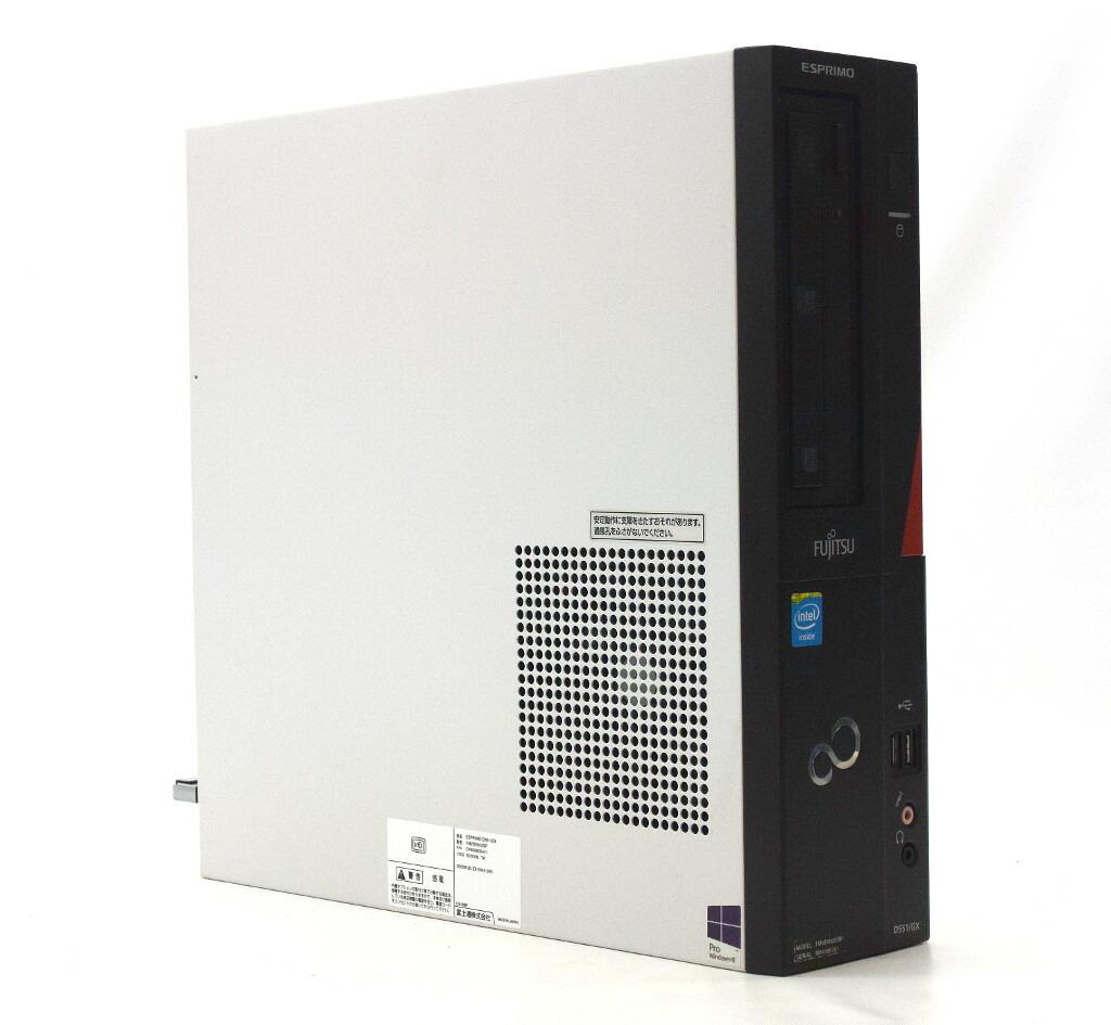 富士通 ESPRIMO D551/GX Celeron G1610 2.6GHz 2GB 500GB(HDD) DVI-D Windows10 Pro 64bit