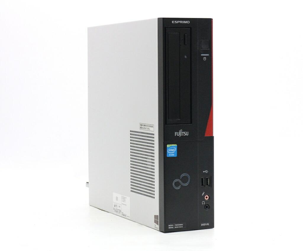 富士通 ESPRIMO D551/G Celeron G1610 2.6GHz 4GB 250GB(HDD) DVI-D Windows10 Pro 64bit