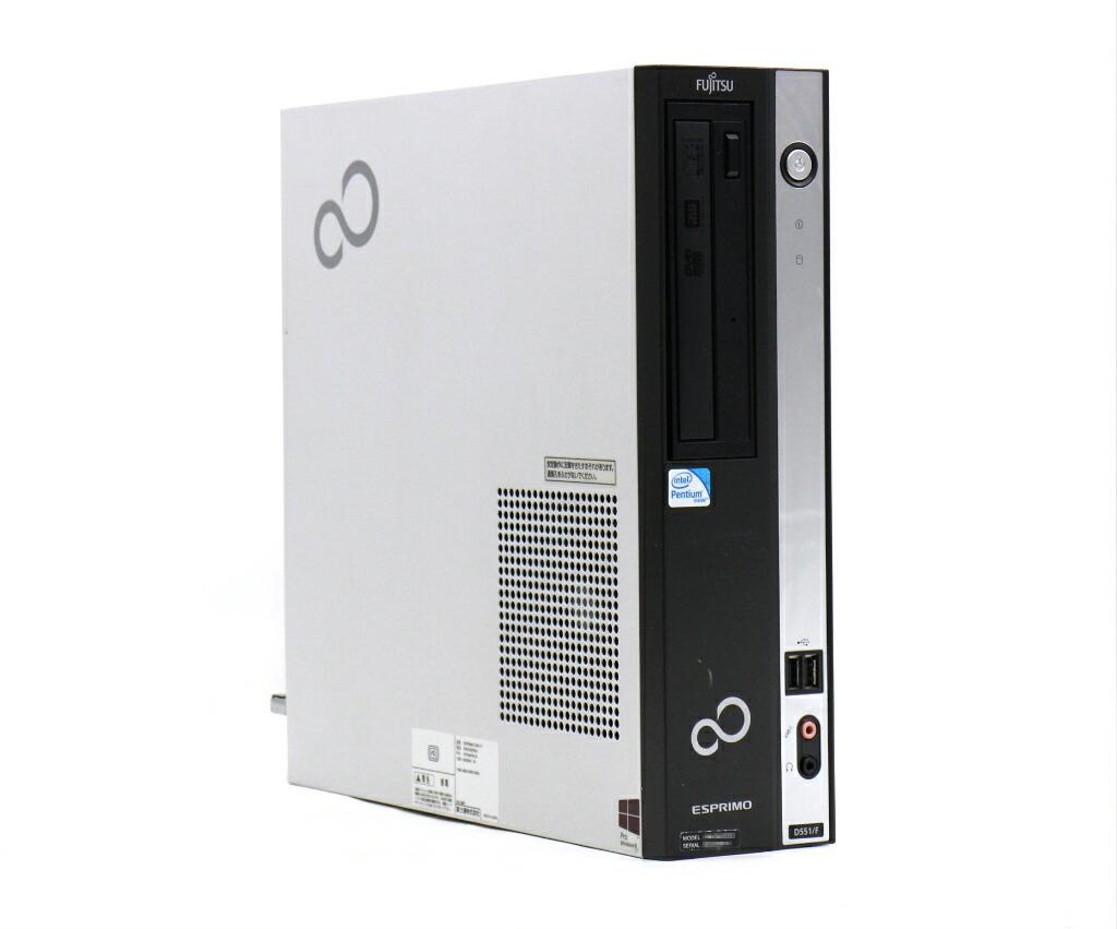 富士通 ESPRIMO D551/F Pentium G645 2.9GHz 4GB 500GB(HDD) DVI-D Windows10 Pro 64bit