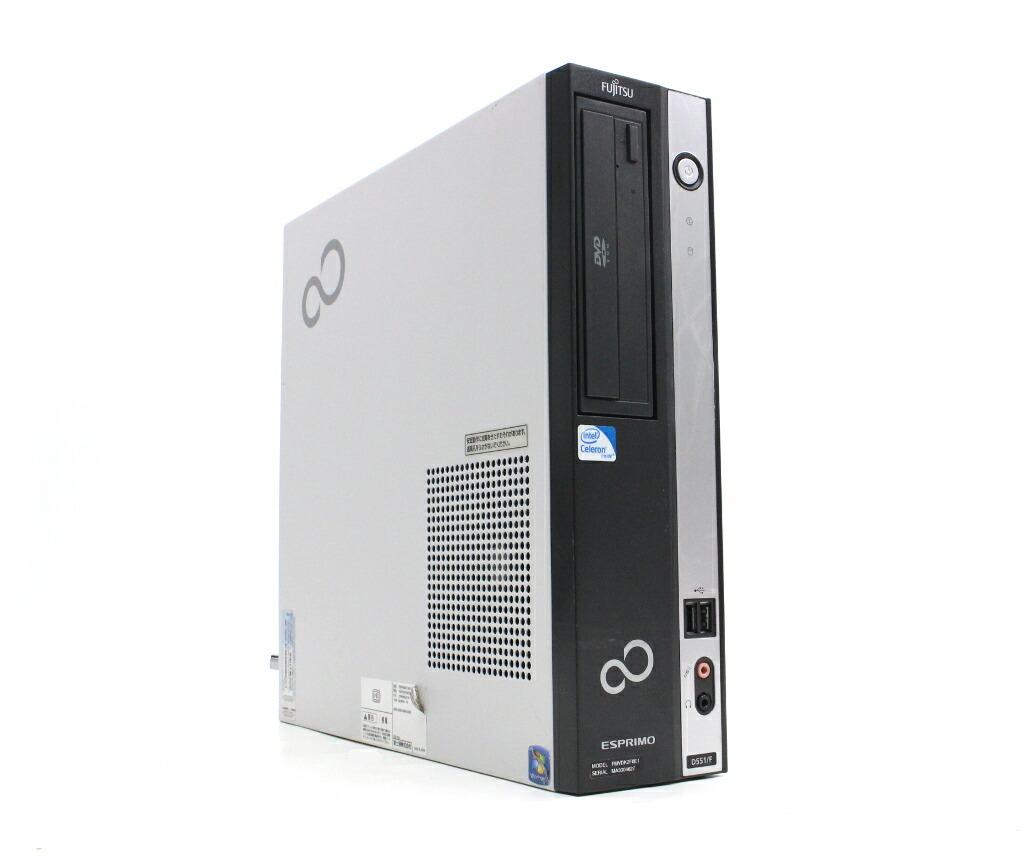 富士通 ESPRIMO D551/F Celeron G550 2.6GHz 2GB 250GB(HDD) DVI-D Windows7 Pro 32bit