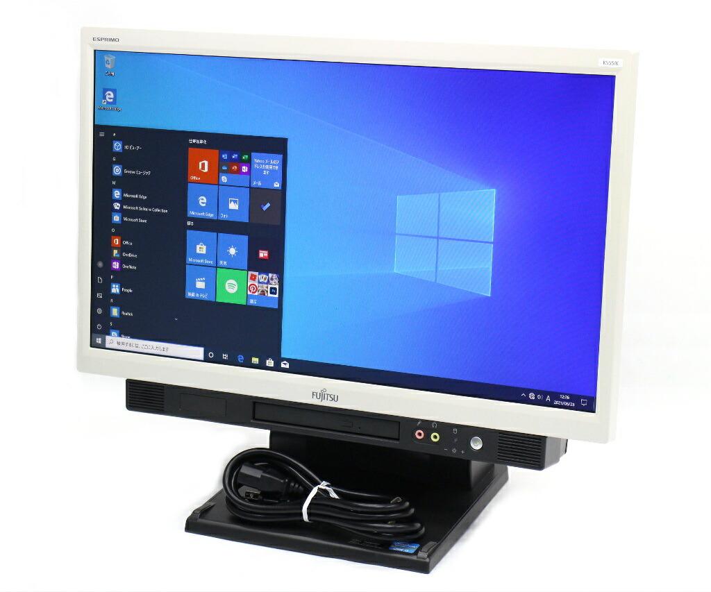 富士通 ESPRIMO K555/K Core i3-4100M 2.5GHz 4GB 128GB 20インチ HD+ 1600x900 Windows10 Pro 32bit
