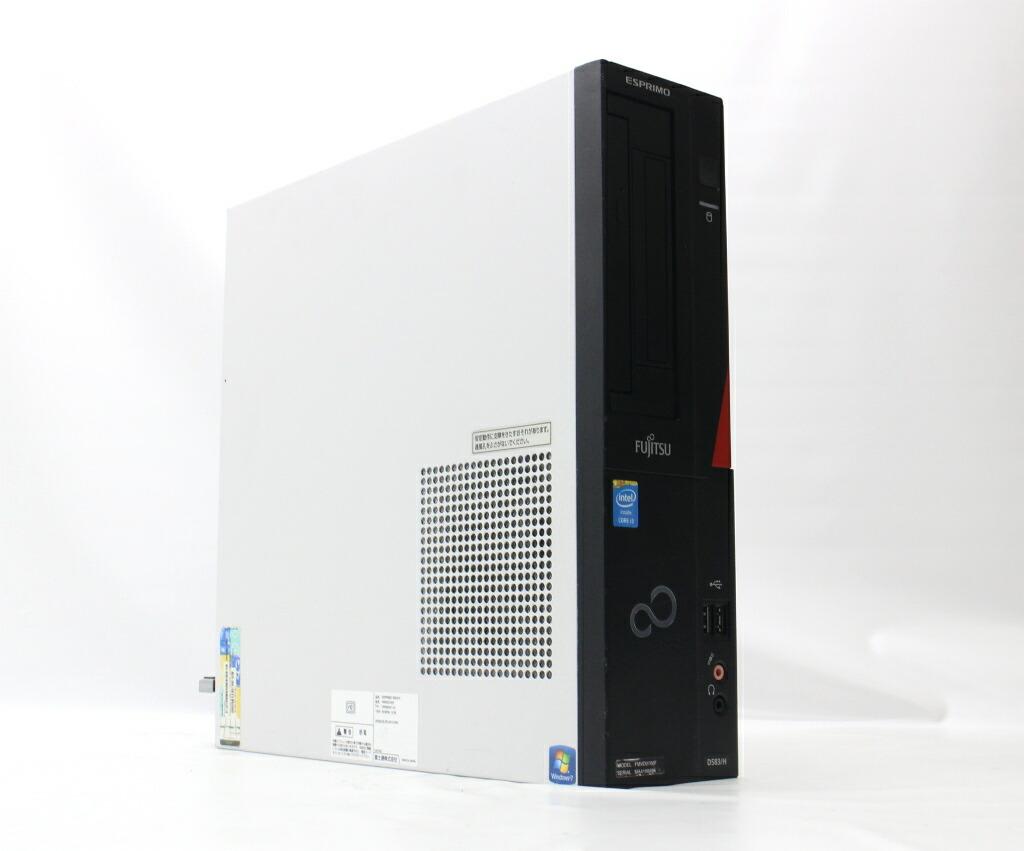 富士通 ESPRIMO D583/H Core i3-4130 3.4GHz 4GB 500GB(HDD) DVI-D Windows7 Pro 64bit