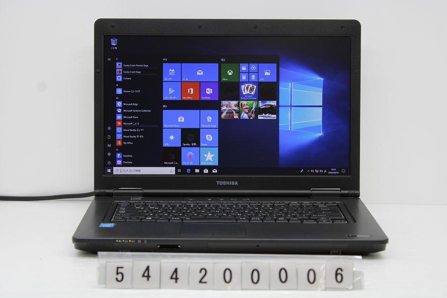 東芝 dynabook B452/G Celeron B830 1.8GHz/4GB/128GB(SSD)/DVD/15.6W/FWXGA/Win10【中古】【20200810】