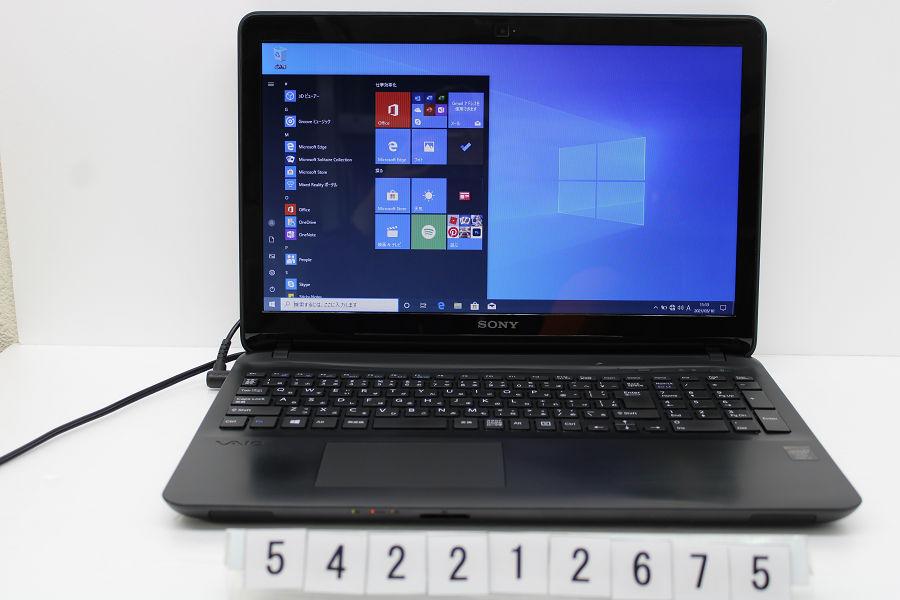 SONY SVF153B18N Core i5 4200U 1.6G/8G/256G/Multi/15.5W/Win10 バッテリー完全消耗【中古】【20210319】