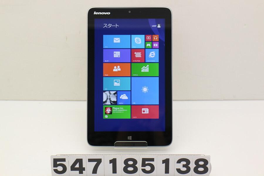 Lenovo Miix 2 8 Atom Z3740 1.33GHz/2GB/64GB/8W/WXGA/Win8.1【中古】【20180710】