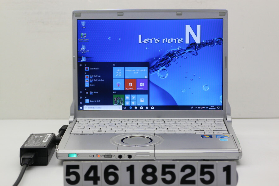 Panasonic CF-N9KW5MDS Core i5 520M 2.4GHz/4GB/128GB(SSD)/Win10 無線LAN不良【中古】【20180731】